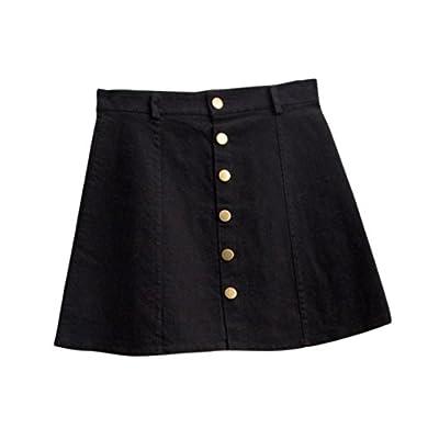 Women's Fashion Denim Waist Skirt Korean Style Skirt YE L