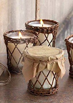 Collection Hickory (Park Hill Collection Burlap & Barn Wood Scented Candle - Lingering Warm Notes of a Hickory Fire, Rich Tobacco and Tweed)