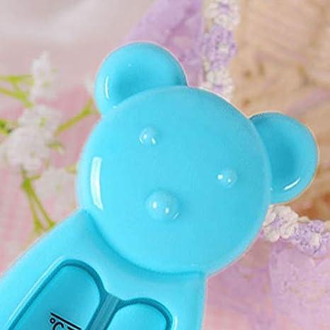 blau Sch/öne B/ärenform Baby Wasser Thermometer Cartoon schwimmende Kinder Bad Thermometer Spielzeug Kunststoff Baby Badewanne Wasserthermometer
