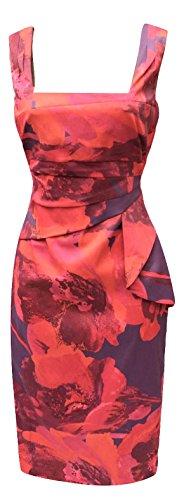 Purple Bodycon Print Womens Size Multi Dress Red Feminine Millen UK DP123 Karen 6 x0Tw1qH