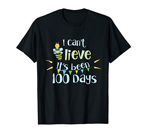 Teacher 100 Days Of School Pun Shirt 100th Day Bee Gift Idea]()