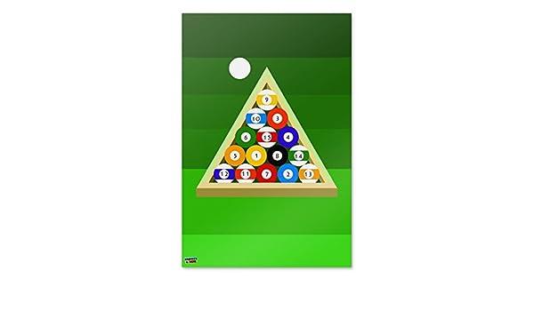 billar bolas y triángulo mesa billar casa negocio oficina cartel ...