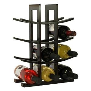 Oceanstar WR1132 12-Bottle Dark Espresso Bamboo Wine Rack, 2-Pack by Oceanstar