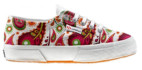 Superga Chaussures Coutume (ARTISAN SHOE)White Green Paisley
