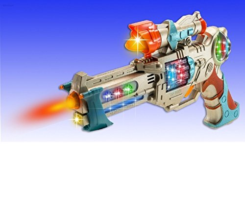 WolVol Kids Police Pistol Gun with Action Lights & Sounds - Brightly Colored Blaster - Perfect Pretend Play Toy For Boys & Girls -