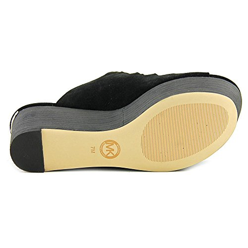 Michael Michael Kors Westley Slide Pelle Sandalo con la Zeppa