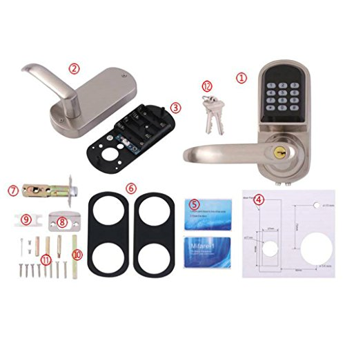 Baoblaze Electronic Digital Keyless Code Door Lock Unlock With Code And Mechanical Keys for Home Hotel Entry Security by Baoblaze (Image #9)