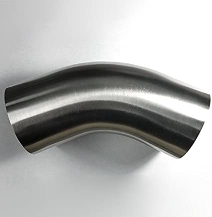 16GA//.065 Wall 1.5D//4.5 CLR Loose Radius Stainless 3 90/° Mandrel Bend Elbow Stainless Bros SS304 2 Leg