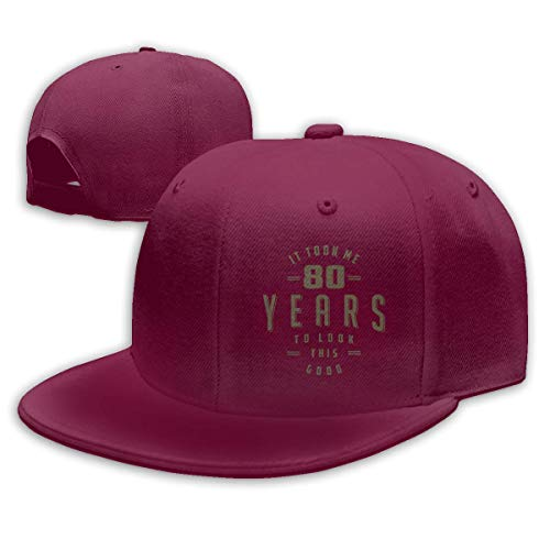 - Cejgc Funny 80th Birthday Man & Womens Adjustable Snapback Caps Baseball Hats,Dark Red,One Size