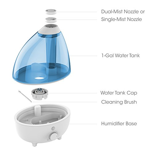 Large Product Image of Pure Enrichment MistAire XL Ultrasonic Cool Mist Humidifier for Large Rooms - 1 Gallon Water Tank with Variable Mist Control, Automatic Shut-Off and Optional Night Light - Lasts Up to 15 Hours