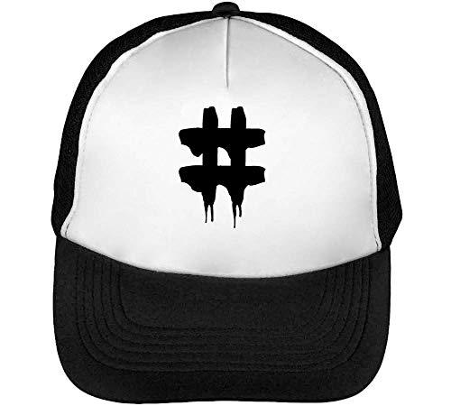 Negro Dope Blanco Graphic Beisbol Gorras Snapback Hashtag Hombre ZYdS0Yw
