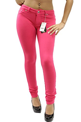 Nuevas mujeres señoras Super elástico Fitted Jeans Jeggings 8 – 6 fucsia 0d37aad34f07b