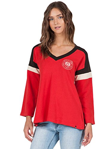 (Volcom Junior's Number One Vintage Football Inspired Top, Rad Red, Small)