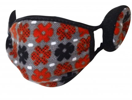 Cold-and-Flu-Mask-Red-Flower-Power-Ear-Muff