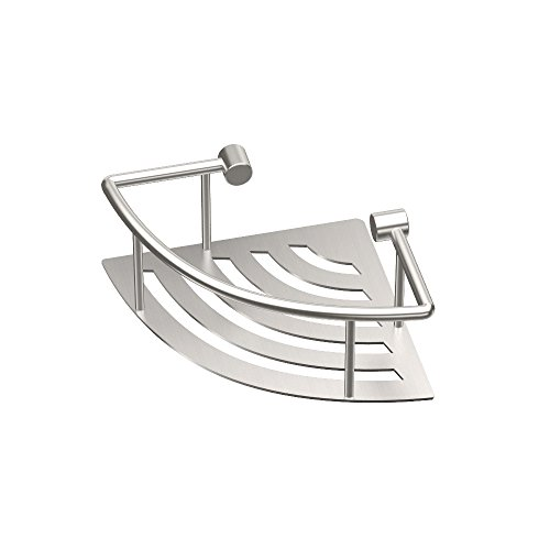 Corner Shower Trays - Gatco 1453 Elegant Corner Shelf, Brushed, 8