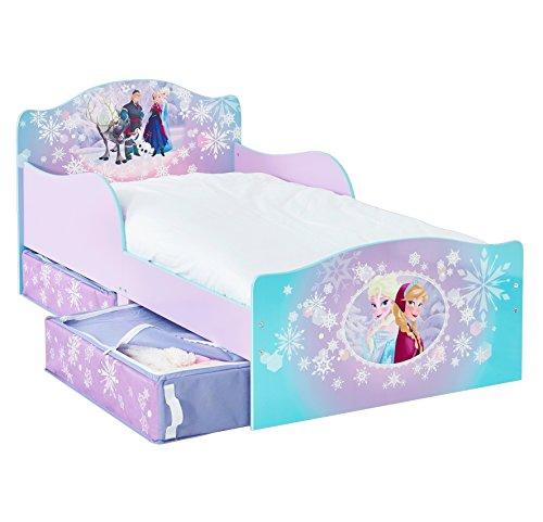 Disney Frozen 509FRN Kinderbett mit Seitenteile und Stoffschubladen