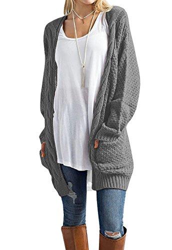 Grey Cardigan Sweater - 2