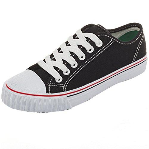 stile da da di coreano Black basse ginnastica Scarpe Scarpe Size scarpe moda scarpe femminile YaNanHome Pink 38 di Color studenti tela stile Harajuku uomo Espadrillas selvaggia qvatpt