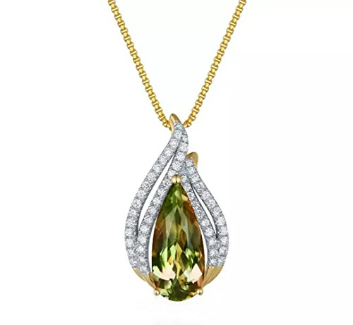 Tingle Alexandrite Gemstone Heart Necklace Pendant Sterling Silver Fine Jewelery Color Change Gemstone Pendant 925 Sterling Silver Heart Pendant Necklace (Heart Pendant Necklace)