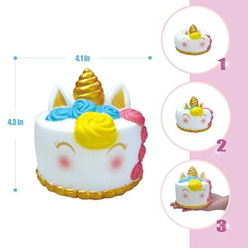 LittleBoo Unicorn Gift Set - Unicorn Squishy, Unicorn Slime, Unicorn Drawstring Backpack, Unicorn Card - Unicorn Gifts for Girls (Cream Cake Unicorn Squishy) by LittleBoo (Image #3)
