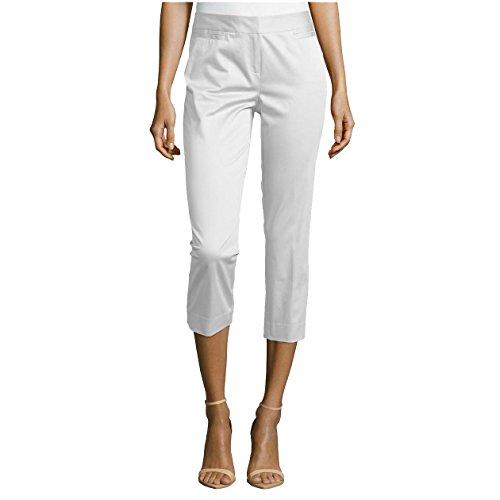 Lafayette 148 New York Polished Cropped Pants, White, US 8 ()