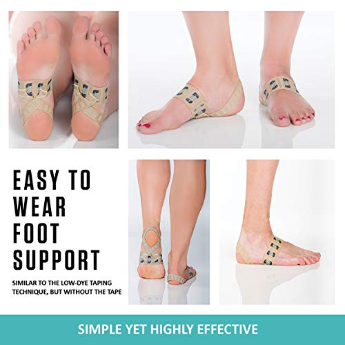The Original X Brace - Arch Support Brace and Compression for Plantar Fasciitis, Severs Disease, Flat Feet, Fallen Arches, Over-Pronation and Heel Pain