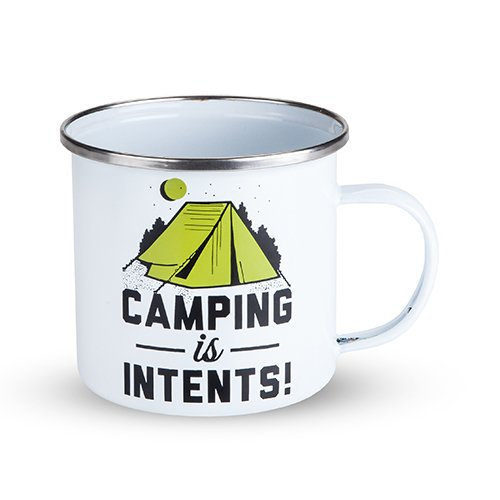 Camping Is Intents Enamel Mug made our list of Inspirational And Funny Camping Quotes