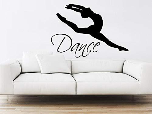 (BYRON HOYLE Dance Wall Decal Vinyl Sticker Decals Ballet Dancing Ballerina Acrobatics Gymnastics Wall Decal Quote Wall Decor Dance Studio Decor Art ZX5)