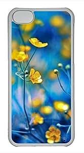iPhone 5c case, Cute Yellow Flower 2 iPhone 5c Cover, iPhone 5c Cases, Hard Clear iPhone 5c Covers