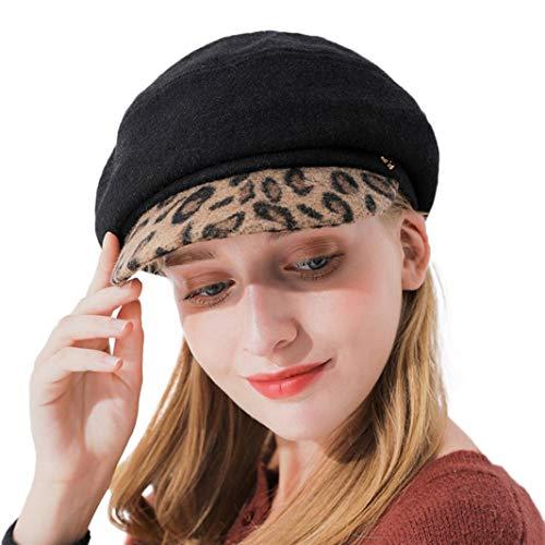 Clearance Men Women Baggy Winter Warm Visor Knitting Wool Knit Ski Beanie Skull Slouchy Caps Hat (Oversized Wool Cap)
