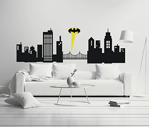 Gotham City - Boy Girl Room - Mural Wall Decal Sticker For Home Car Laptop (Wide 40