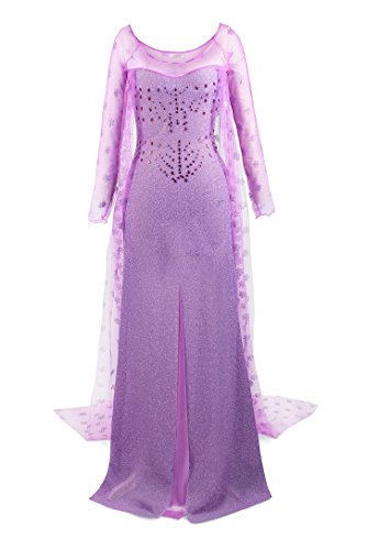 ReliBeauty Womens Princess Elsa Sequin Dress Up Costume (Small, (The Shining Halloween Costume Ideas)