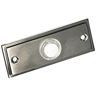 Door Chime, Wired, Push, Lit, Brush Nickel