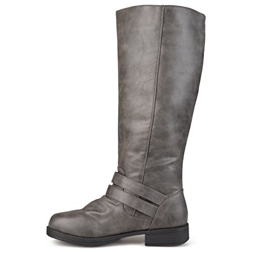 Brinley Co Womens Fulton Stivali Da Equitazione Regular E Wide Grigio Vitello