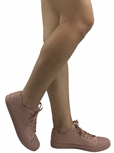 The Collection Taylor Lo-Top Sneakers Womens Canvas Sports Shoes Dusty Pink