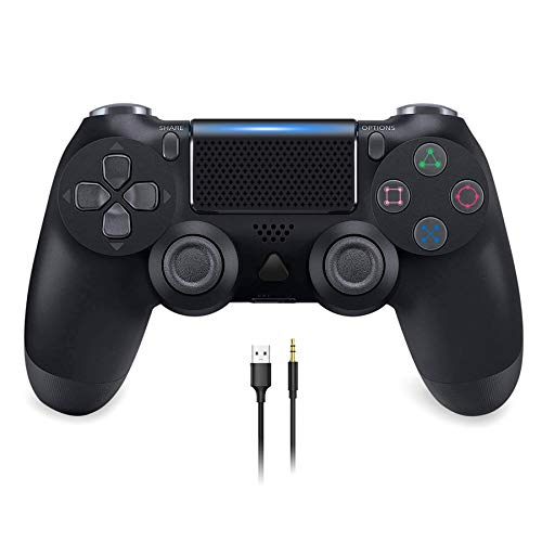 Wireless Gaming Controller for PS4, YCCSKY Wireless Gamepad with Touch Panel Share Button Audio Function LED Indicator and USB Cable, for Playstation 4/Slim/Pro