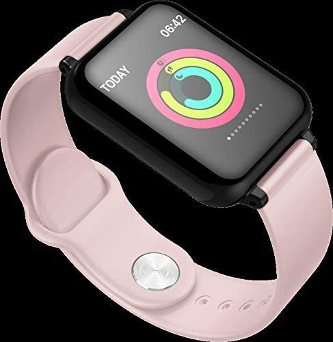 HAYEDF Color screen smart bracelet heart rate blood pressure sleep monitoring information alert pedoexercise watch Pink