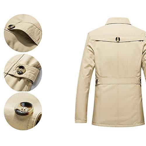 Addensare Khaki Chenyongping Militare Esterno Cappotto color Uomo Rivestimento Da Giacca 5xl Antivento Caldo Size Invernale Impermeabile Black rAPIxarwHq