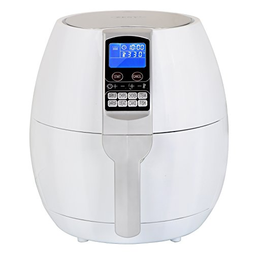 ZENY 3.7-Quart Programmable Electric Air Fryer, 8 Cook Presets w/LCD Digital Screen for Oil Free Cooking