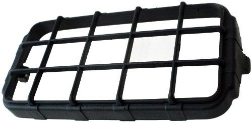 (Delta Lights (04-2500-06) 45H / 250 Series Stone Guard - Black Rectangular)