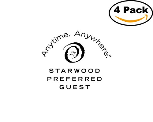 Starwood Office (Starwood Preferred Guest 4 Stickers 4X4 inches Car Bumper Window Sticker Decal)
