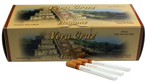 Vera Cruz Elegante King Size Cigarette Tubes - 200ct per box (50 Boxes/Full Case) by Veracruz