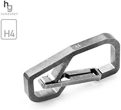 HANDグレー プレミアムグレード 5 チタン製キーカラビナ - H4
