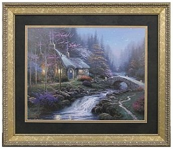 Fantastic Amazon Com Thomas Kinkade Twilight Cottage 24 X 28 Framed Home Interior And Landscaping Ologienasavecom