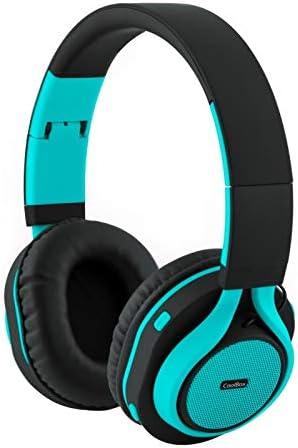 casque bleu turquoise avec fil
