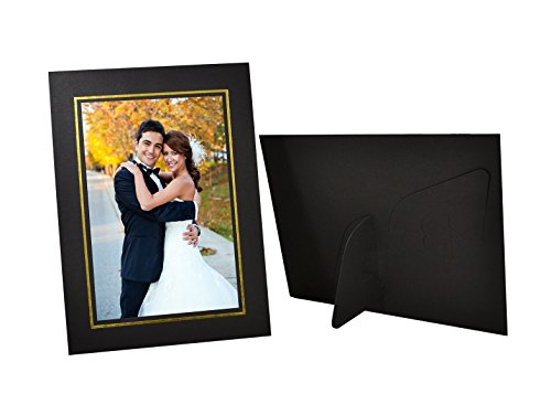 Golden State Art, Pack of 25, Black Cardboard Photo Easel Frame for 4x6 Photo