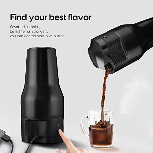 i Cafilas K Mini coffee Maker Portable Espresso Maker Compatible with K pods Automatic Coffee Maker 500ML Stainless Steel Brewer Cup with USB cable by BRBHOM (Image #5)