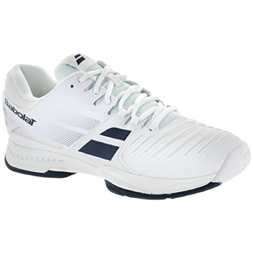 Babolat SFX All Court Mens Tennis Shoe (9.5, White/Blue)