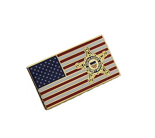 - USSS United States Secret Service Lapel Hat Pin American Flag