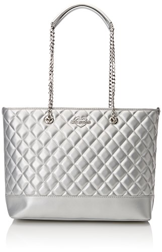 12x28x41 H B Silver Quilted Moschino Plateado Borsa totes Mujer T Argento Metallic Love x Pu cm Bolsos PpSfZx